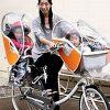 雨の日の子供も快適な自転車レインカバーが人気で売り切れ!リトルキディーズの感想!